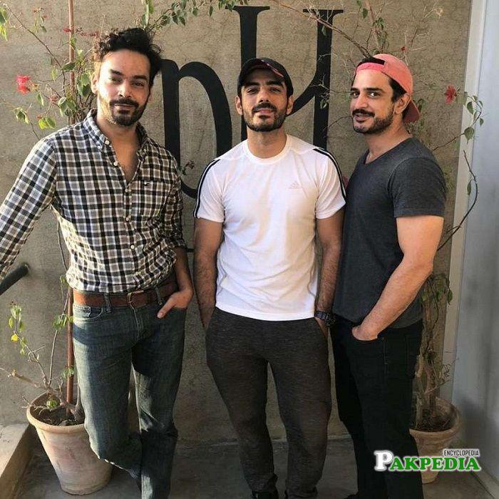 Daniyal with Adeel Hussain and Gohar