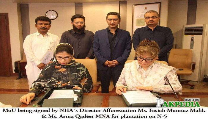 Asma qadeer while serving her duties as MNA