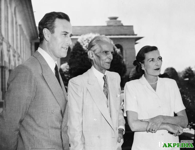 Jinnah with Mr. & Mrs. Mountbatten