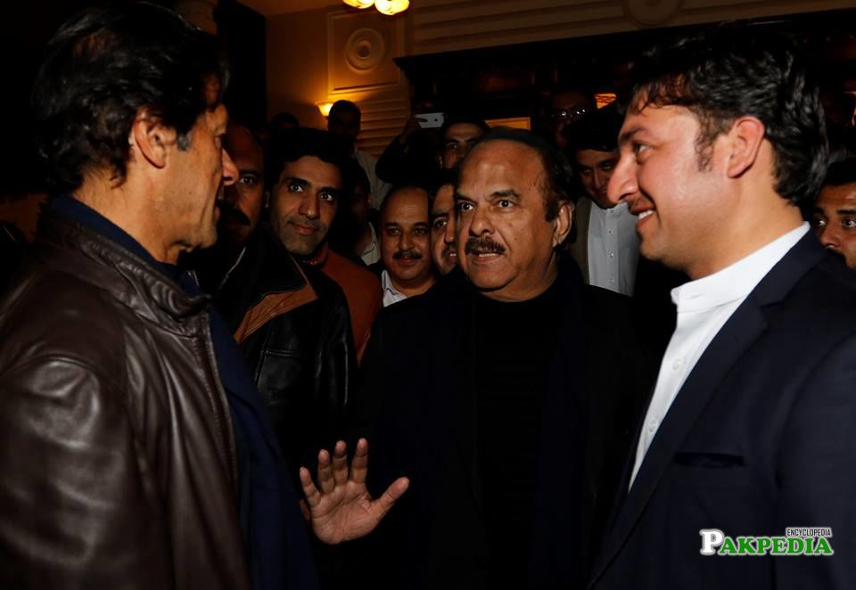 Imran Khan Meeting wit Qaiser Jamal and others