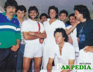 Mansoor Akhtar with His Old Team