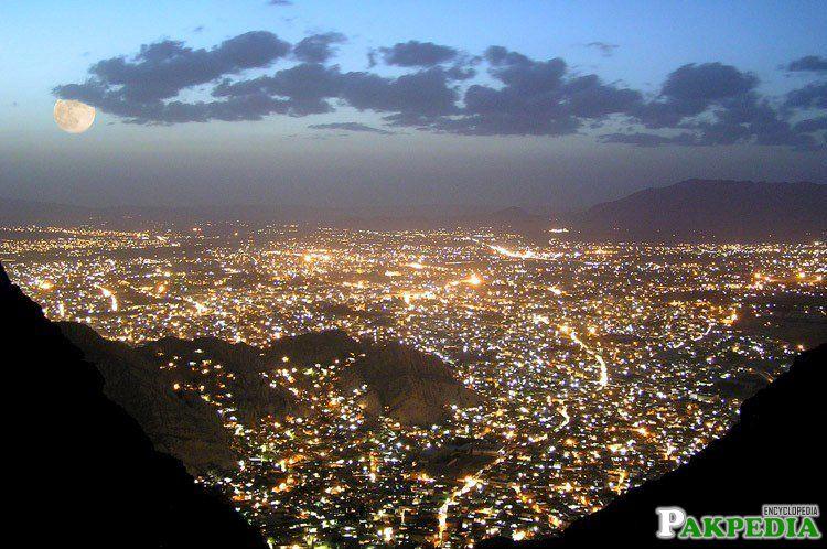Quetta City Night View