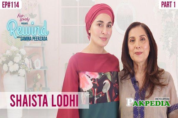 Shaista in Samina pirzada's show