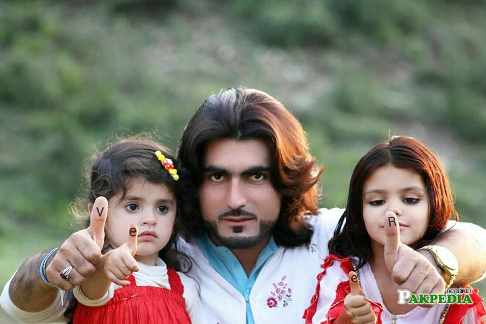 With his Daughters