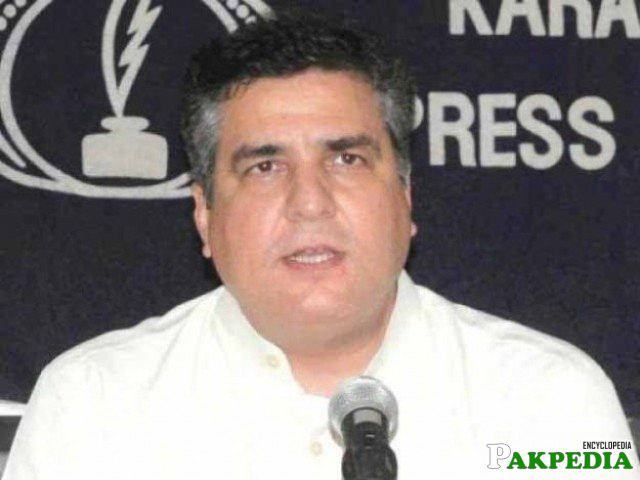 Daniyal Aziz at press conferance