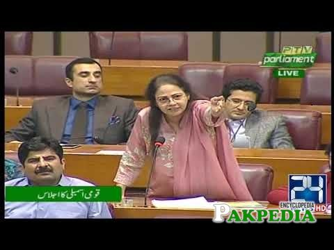 Aisha Ghaus in National Assembly