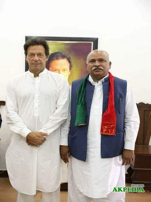 Ahmad Shah Khagga with PM Imran khan