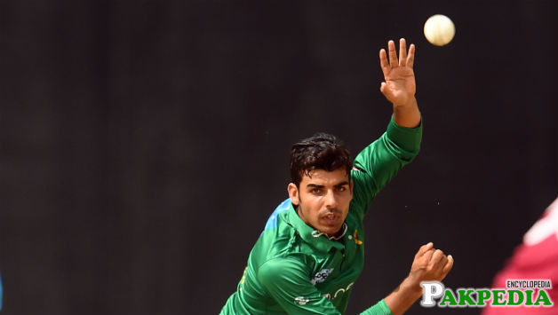 Shadab Khan Bolling Action