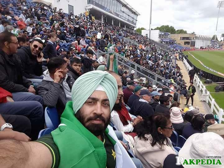 Hercharn Singh watching a match