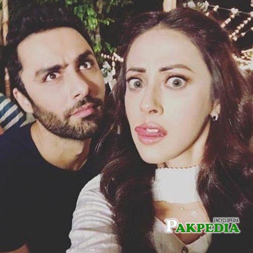 Ainy with Ahmad Ali Akbar on sets