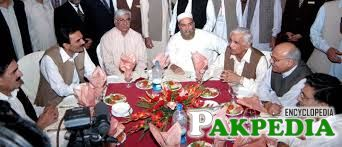 Bashir Ahmad Bilour is some where in meeting