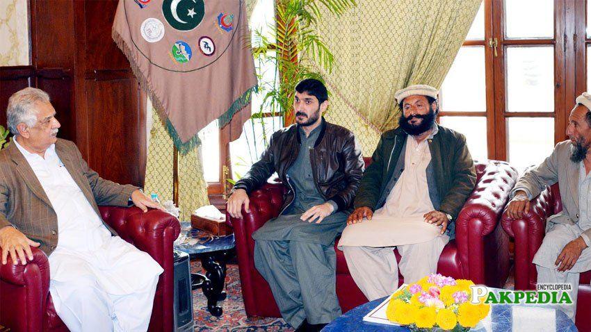 Senator Hilal-ur-Rehman called on the Governor Khyber Pakhtunkhwa Iqbal Zafar Jhagra in Peshawar