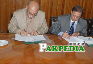 Signing MOU with Lahore council for world affair
