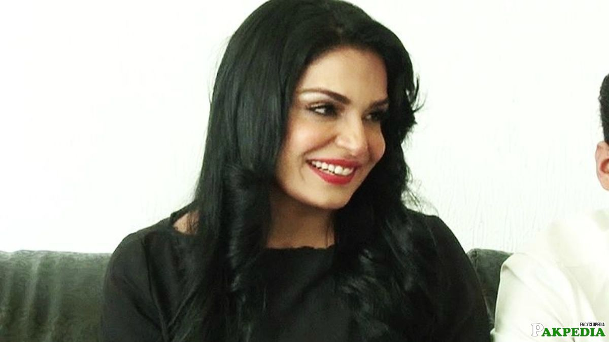 Meera giving a Interview