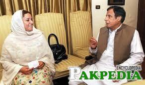 Ghulam bibi with CH. Pervaiz illahi