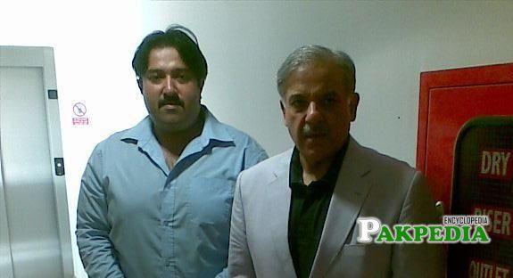 Zeeshan Rafique with Former CM Shahbaz Sharif