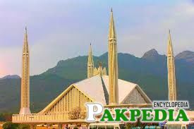 The Faisal Mosque is the work of Turkish architect