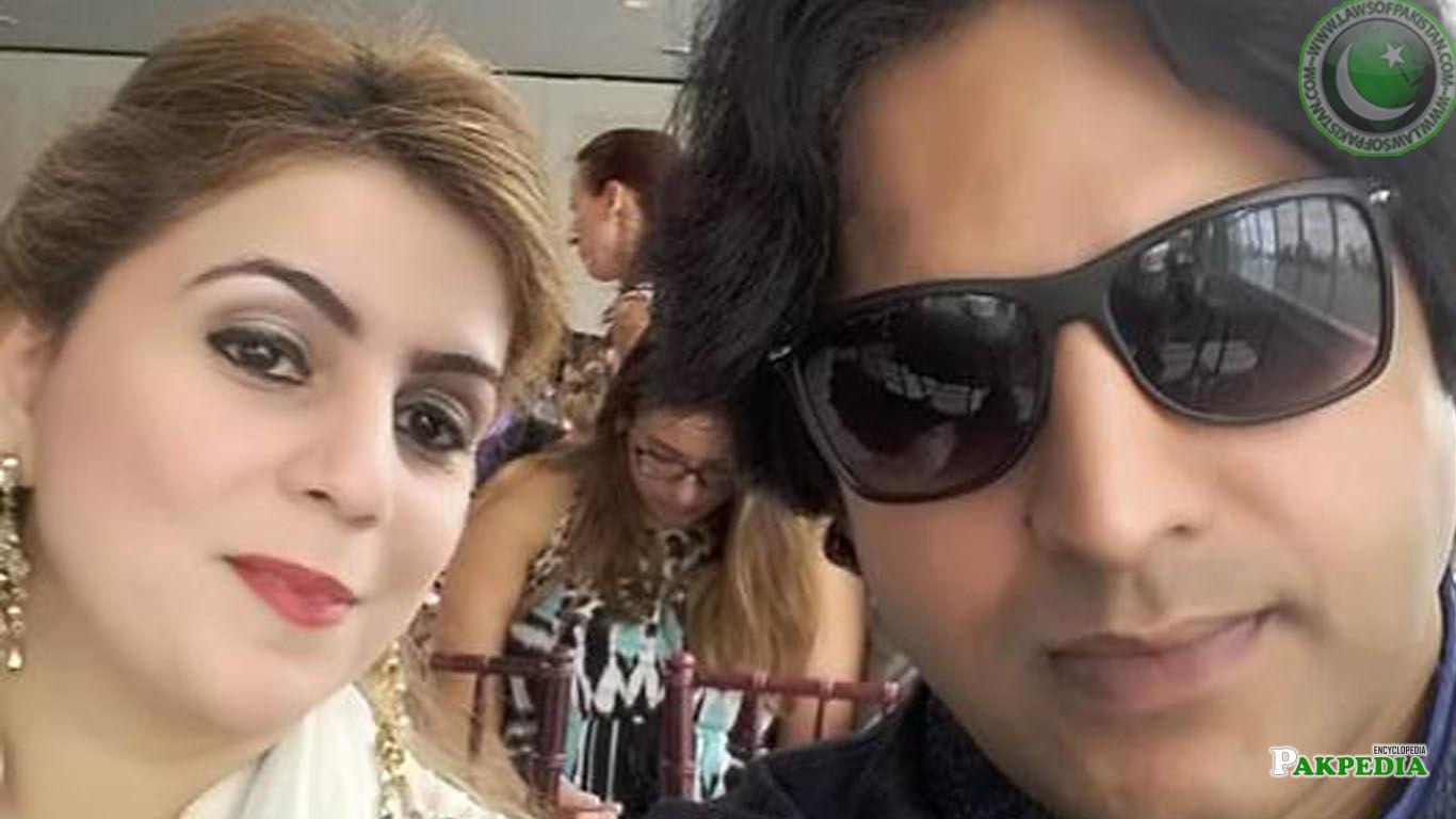 Naz Baloch with singer Jawad Ahmad