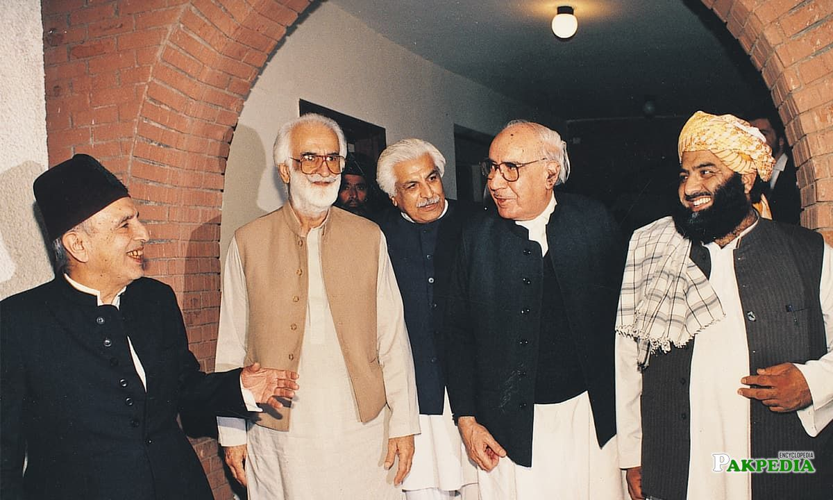 Akbar Bugti with his Party Members