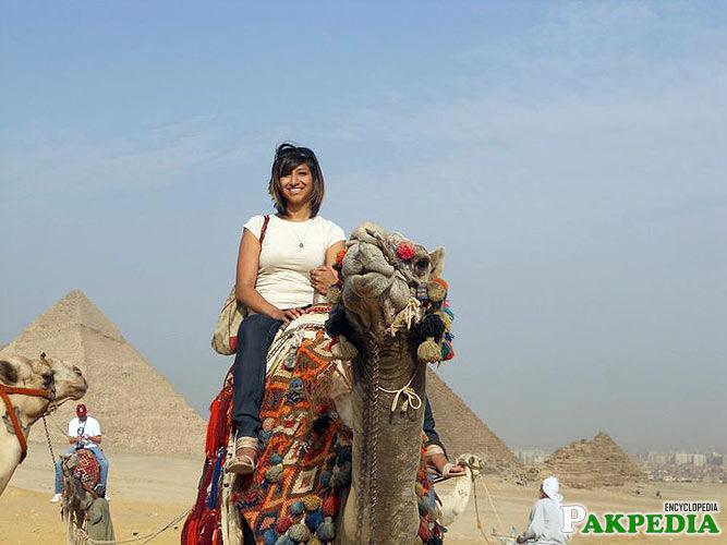 Annie rupani in Egypt