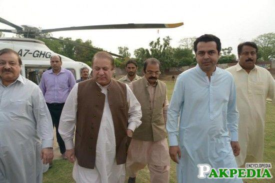 Muhammad Tallal Chaudry With Nawaz Sharif