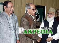 Farooq Leghari with Qazi Hussain