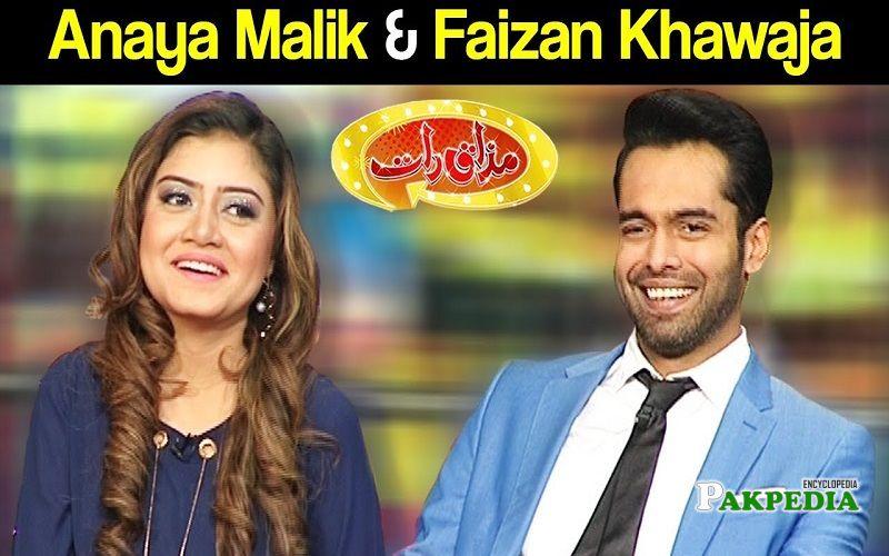 Faizan at the sets of Mazakraat