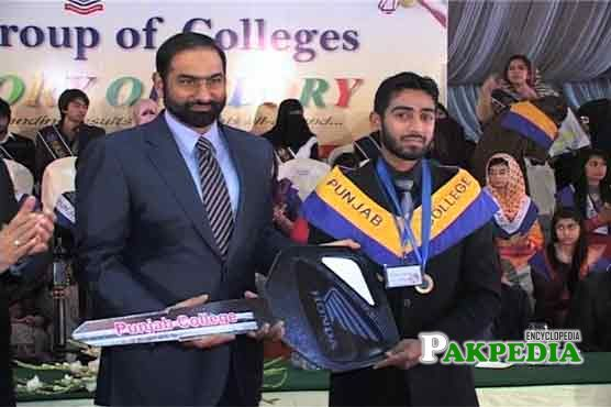 While distributing the prizes