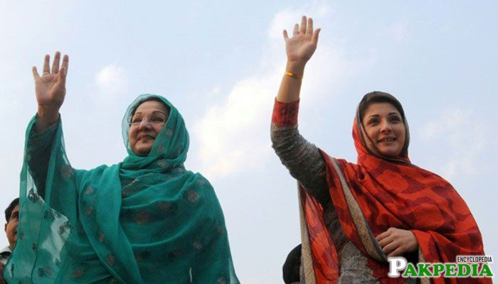 Kulsoom nawaz and mariam nawaz
