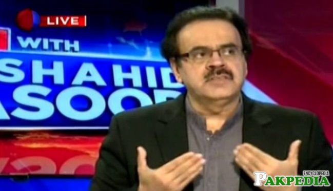 Dr. Shahid Masood in live show