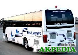 Luxury buses of Faisal Movers