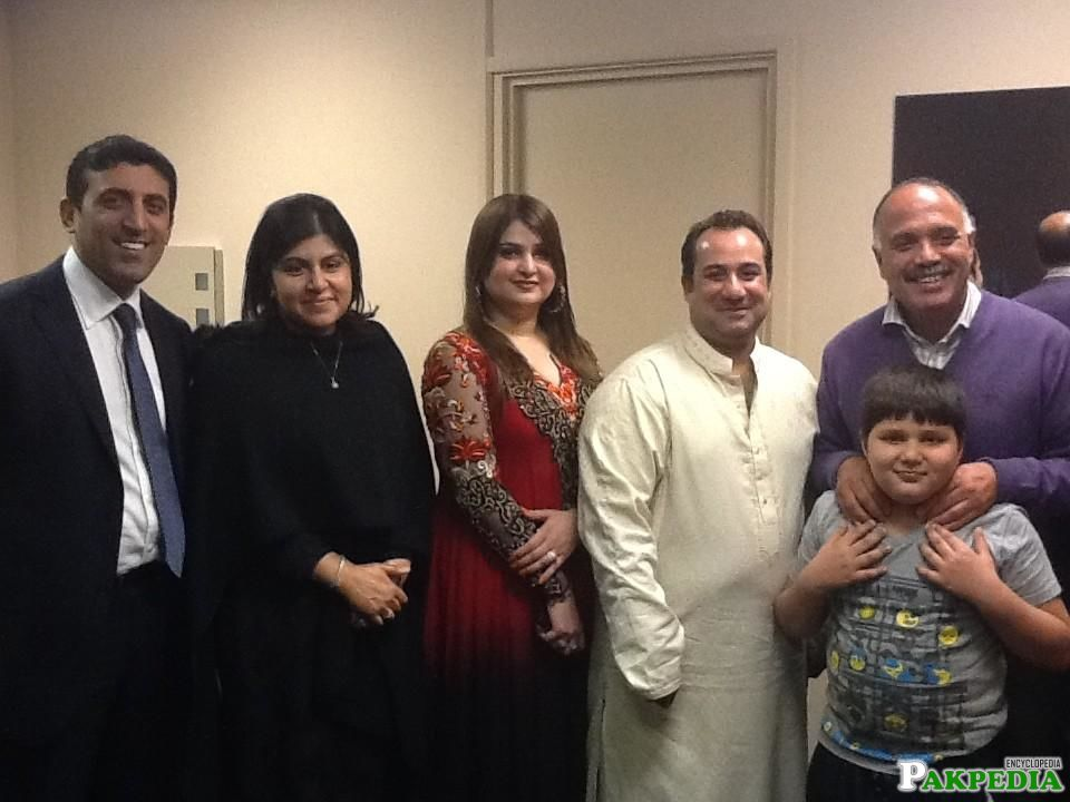 Rahat Fateh Ali Khan Family with Friends