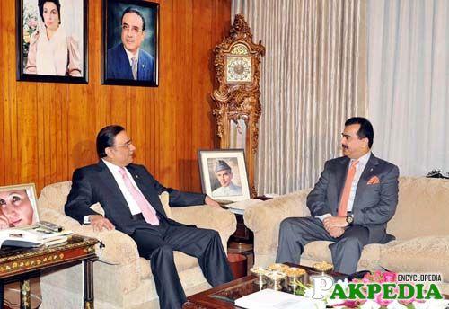Asif Ali Zardari with Yousaf Raza Gillani