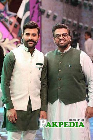 Faizan Shaikh on sets of Salaam Zindagi