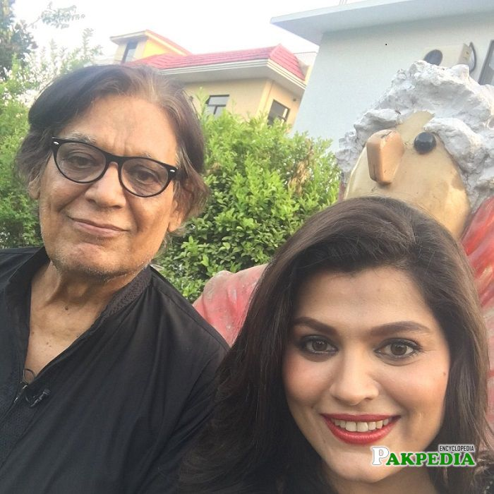 Farooq Qaiser with Sophia Mirza