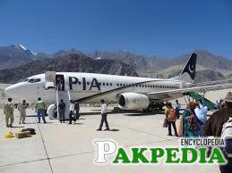 PIA Flight at Skardu Airport