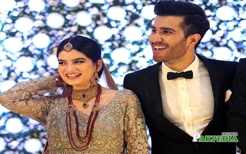 Feroze Khan with his wife Alizey Fatima
