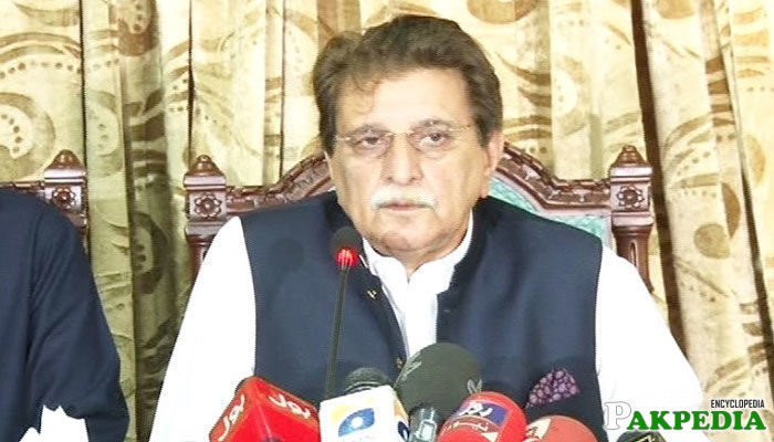 Farooq Haider Khan media talk