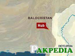 Hub map Pakistan
