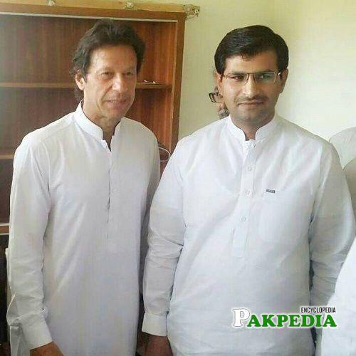 Umar Aftab with Prime minister Imran Khan