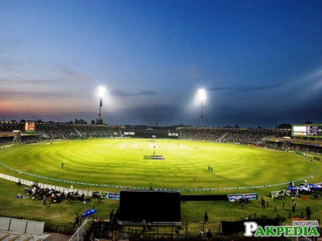 Gaddafi Stadium Night view