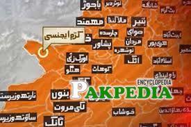 Map of Kurram Agency