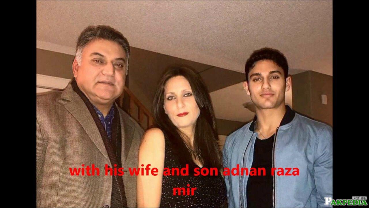 Asif Raza With his Family
