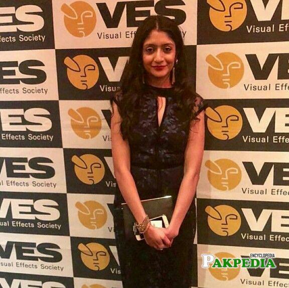 Laraib atta on the red carpet of VES award function