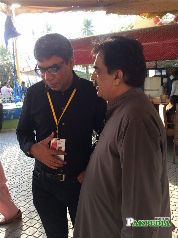 Nadeem F. Paracha and Dr Ayub Sheikh