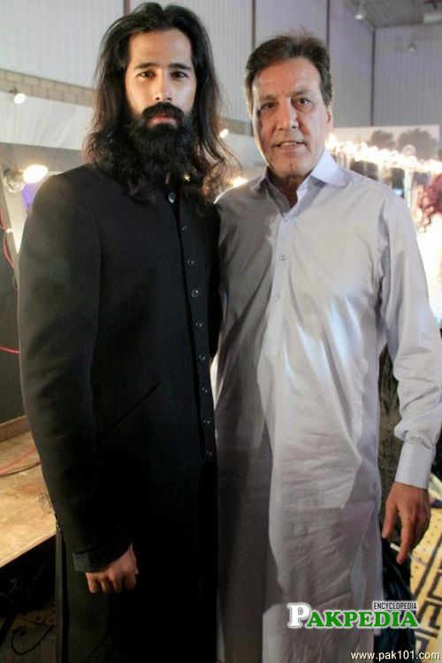 Abbas Jafri with legendary Javed Sheikh
