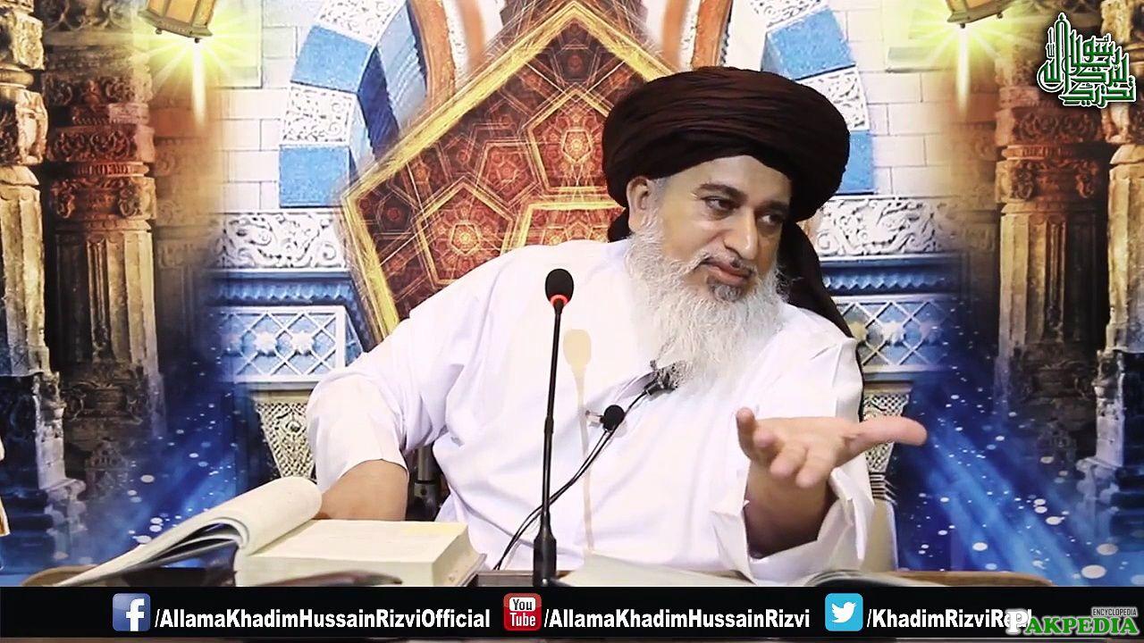 Allama khadim Hussain Rizvi At TV Channel