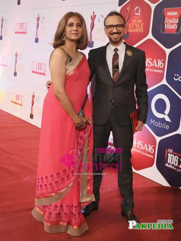 Asim Raza with wife Ayla Raza