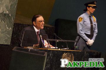 Asif Ali Zardari UN General Assembly Convenes In New York