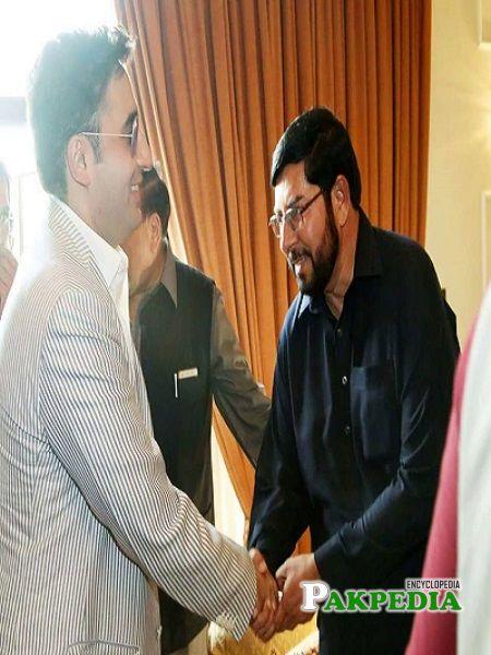 Sardar Ghazanfar Ali Khan with Bilawal Bhutto